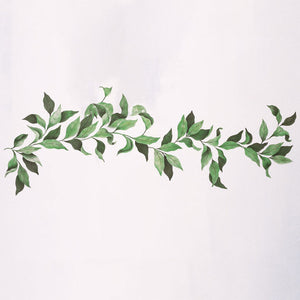 Elegant and Classic Wall Mural Art Leaves Vine Branch Stencils - Royal Design Studio
