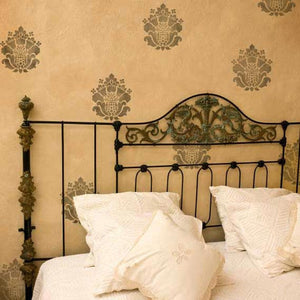 Wall Stencil Grand Damask Element