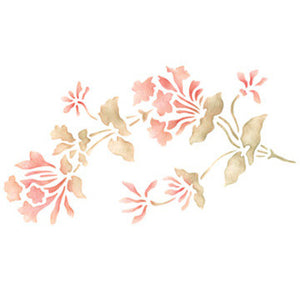 Flower Stencils Bellflower Floral & Vine Stencils for DIY Wall Art and Crafts - Royal Design Studio
