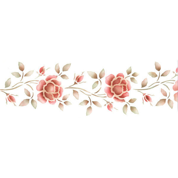 Paint Ivy And Flowers Wall Borders