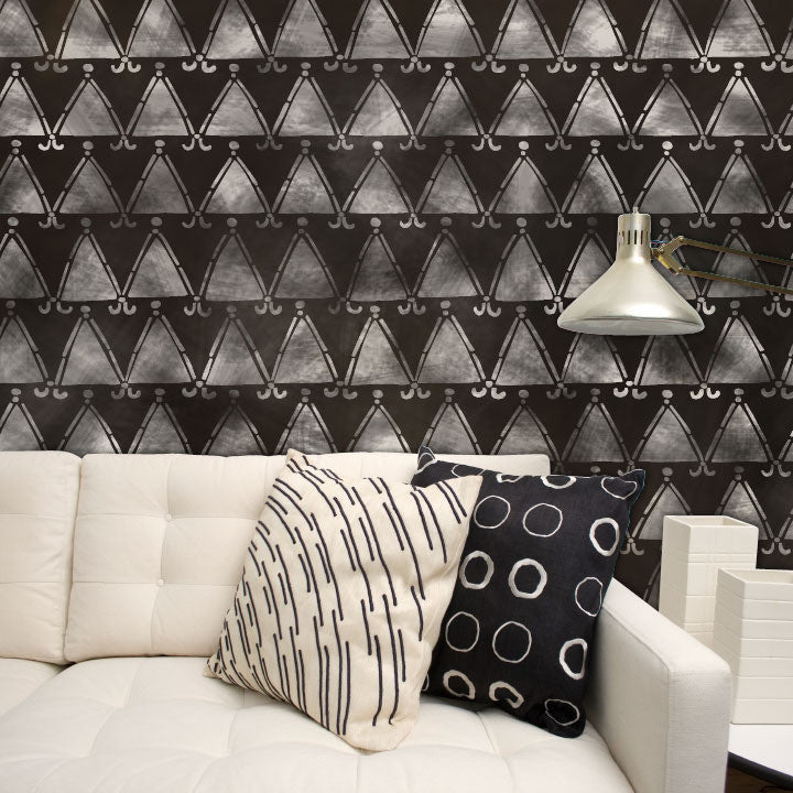 African and Tribal Pattern for Painted Accent Walls - Royal Design Studio Wall Stencils