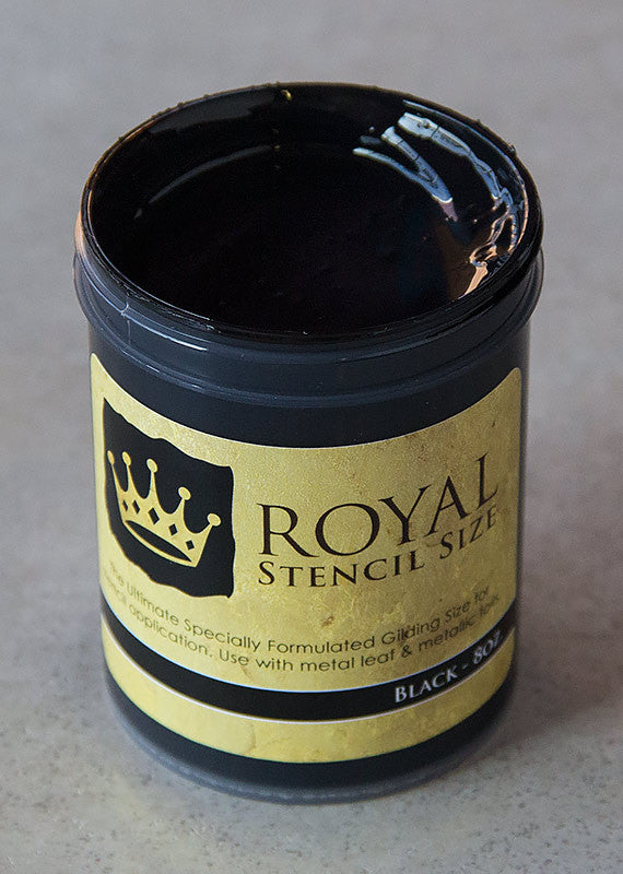 Black stencil gilding size by Royal Design Studio Stencils 8oz
