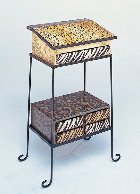 Animal Print and Cheetah Spots Painted Furniture and Craft Stencils
