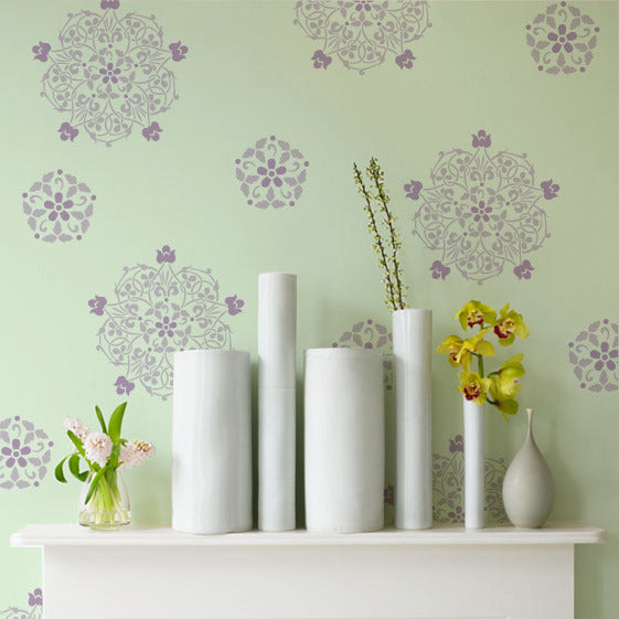 Floral Medallion Set A Wall Stencils
