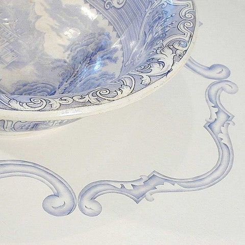 Delicate and Ornamental Scroll Furniture Art Stencils - Royal Design Studio
