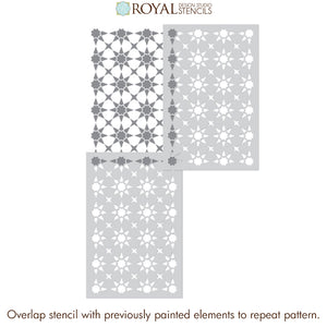 NEW! Supernova Tile Allover Stencil