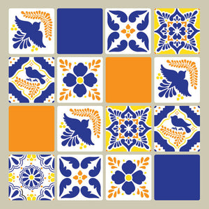 DIY Mexican Talavera Tile Furniture Stencils - Royal Design Studio