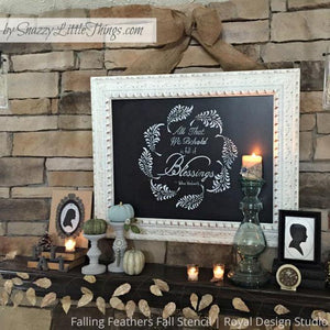 Feathers and Leaves Craft Stencils for DIY Holiday Fall Decor