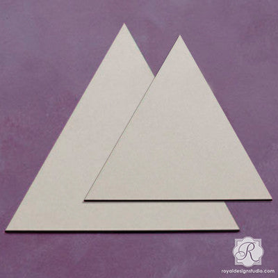 Triangle Wall Art Wood Shapes Set