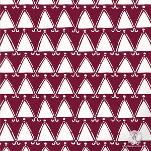 Geometric Triangles and Shapes for African Design - Tribal Triangles Craft Stencils - Royal Design Studio