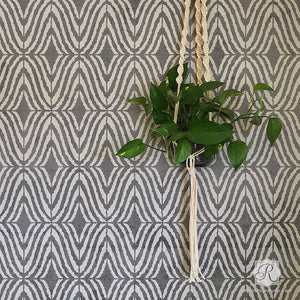 Modern Interior Design and Wallpaper Pattern - Geometric Wall Stencils - Royal Design Studio