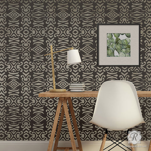 Decorative Wall Stencils wall stencils for painting - trendy & classic stencils for diy