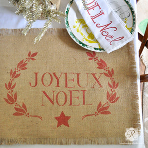 Classic Letters Typography Craft Stencils for Christmas