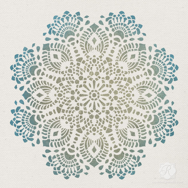 Lace Wall Art Holiday Craft Stencils Diy Christmas
