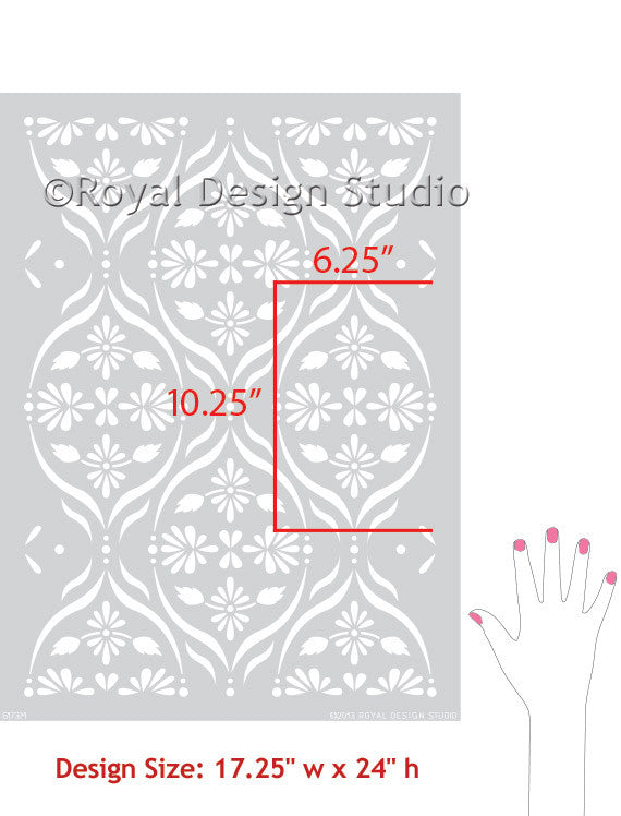 DIY Decor Floral Trellis Wall Stencils for Painting Modern Designs