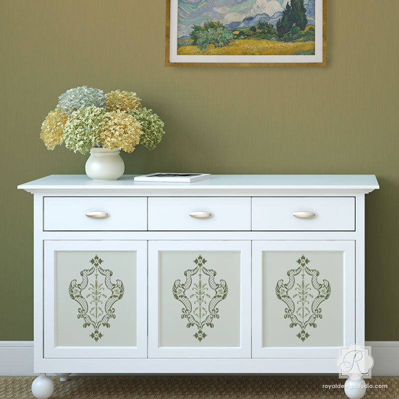 painting designs on furniture. Painting Furniture With Classic Italian Designs - Villa Damask Stencils Royal Design Studio On