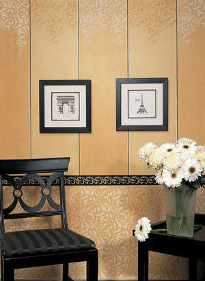 Painting Walls and Furntiure with Leaf Vine Pattern - Interlacing Leaves Allover Wall Stencils - Royal Design Studio