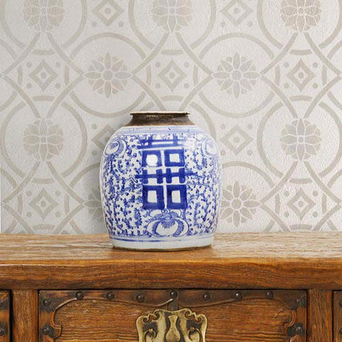 Wall Stencils Eastern Tile Stencil Royal Design Studio