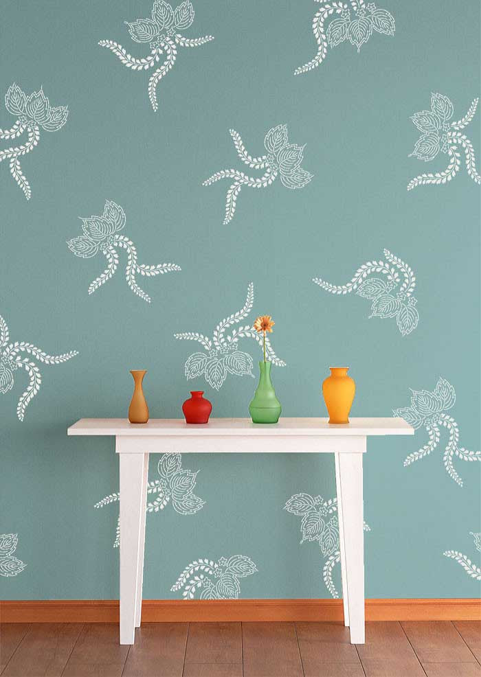 Wall Stencils Japanese Lace Ferns Royal Design Studio