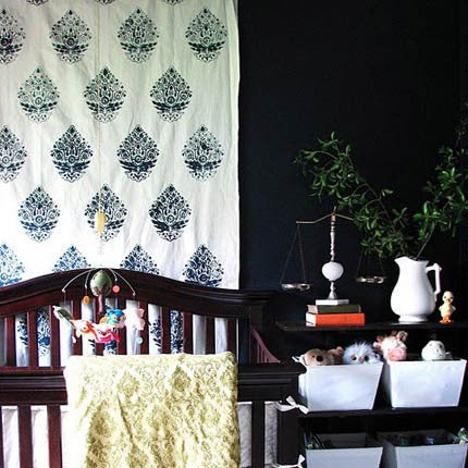 Superior Painted And Stenciled Fabric With Indian Designs And Paisley Patterns    Royal Design Studio Fabric Stencils