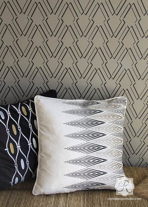 Patterned Home Decor with Trendy Designs - Stenciling Walls with Arrow Outline Wall Stencils