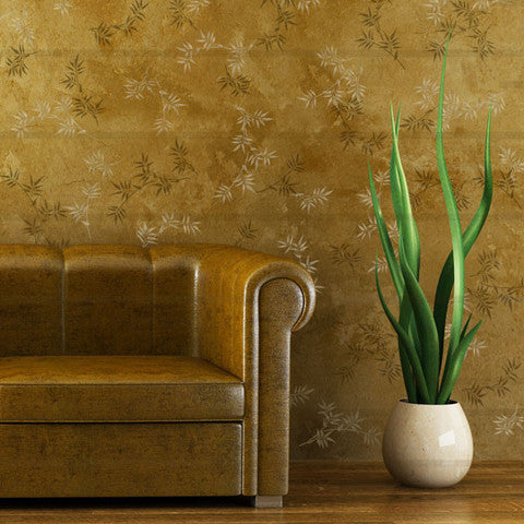 Bamboo Designs Wall Stencils for Trendy Asian Decor and Wall Art - Royal Design Studio