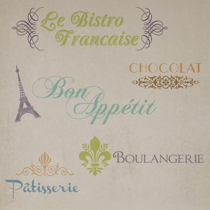 Stencils for french words and designs