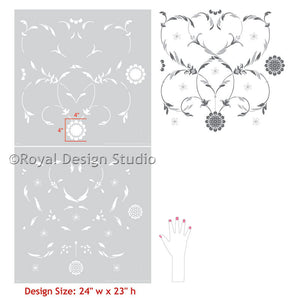 Painting Walls with Classic Italian Wall Stencils and Wallpaper Patterns - Royal Design Studio