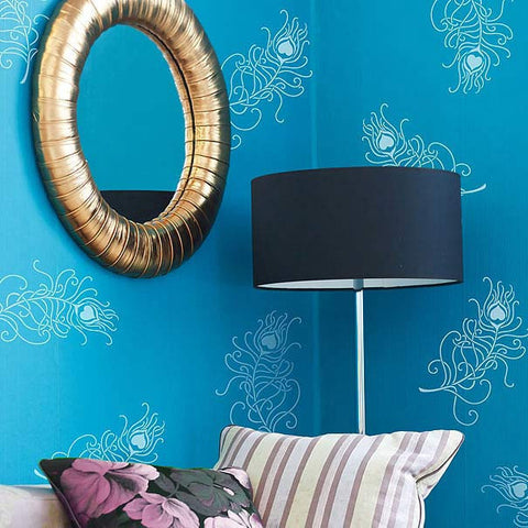 Wall Stencils Peacock Feathers Wall Stencils Royal