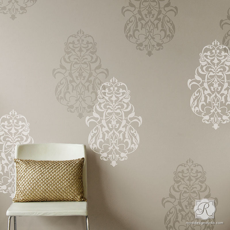 Bohemian Moroccan Decor With Large Wall Stencils   Royal Design Studio Photo