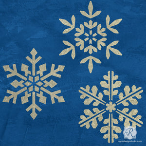 Stencil a Winter Wonderland of Snowflake Stars this Christmas - Royal Design Studio