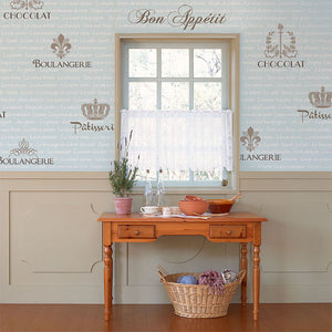 Paint letters with lettering stencils - French words and wall art stencils for kitchen and dining room makeover - Royal Design Studio