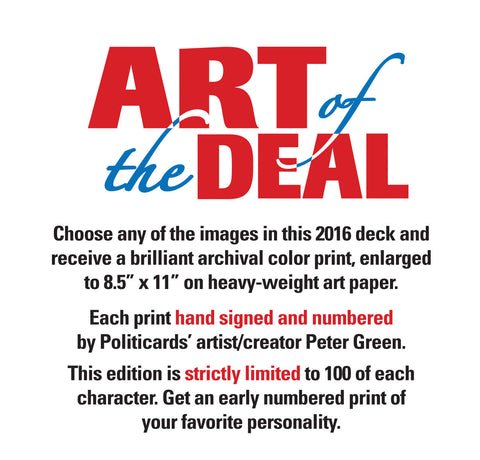 Politicards 2016 Limited Edition Signed Print