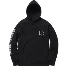 Load image into Gallery viewer, Festival Lineup Pullover Hoodie - Black