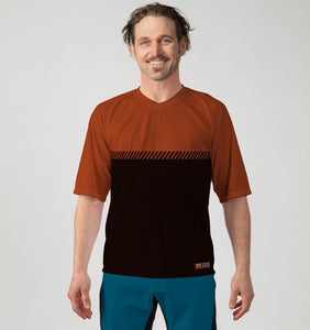 Mens Bike Trail T Jersey - Nzo DESIGN 035_3 Rust