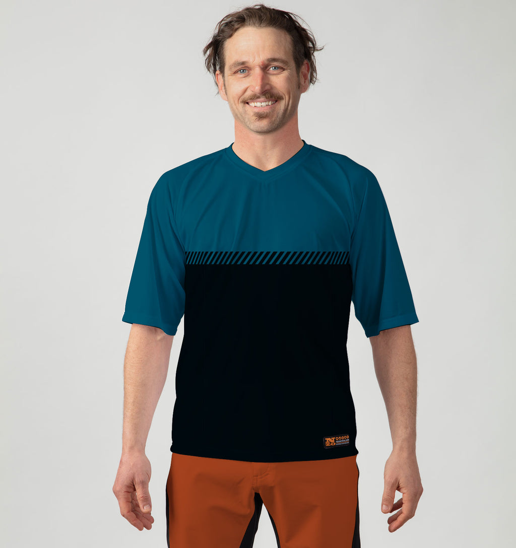 Mens Trail T - Blue / Black