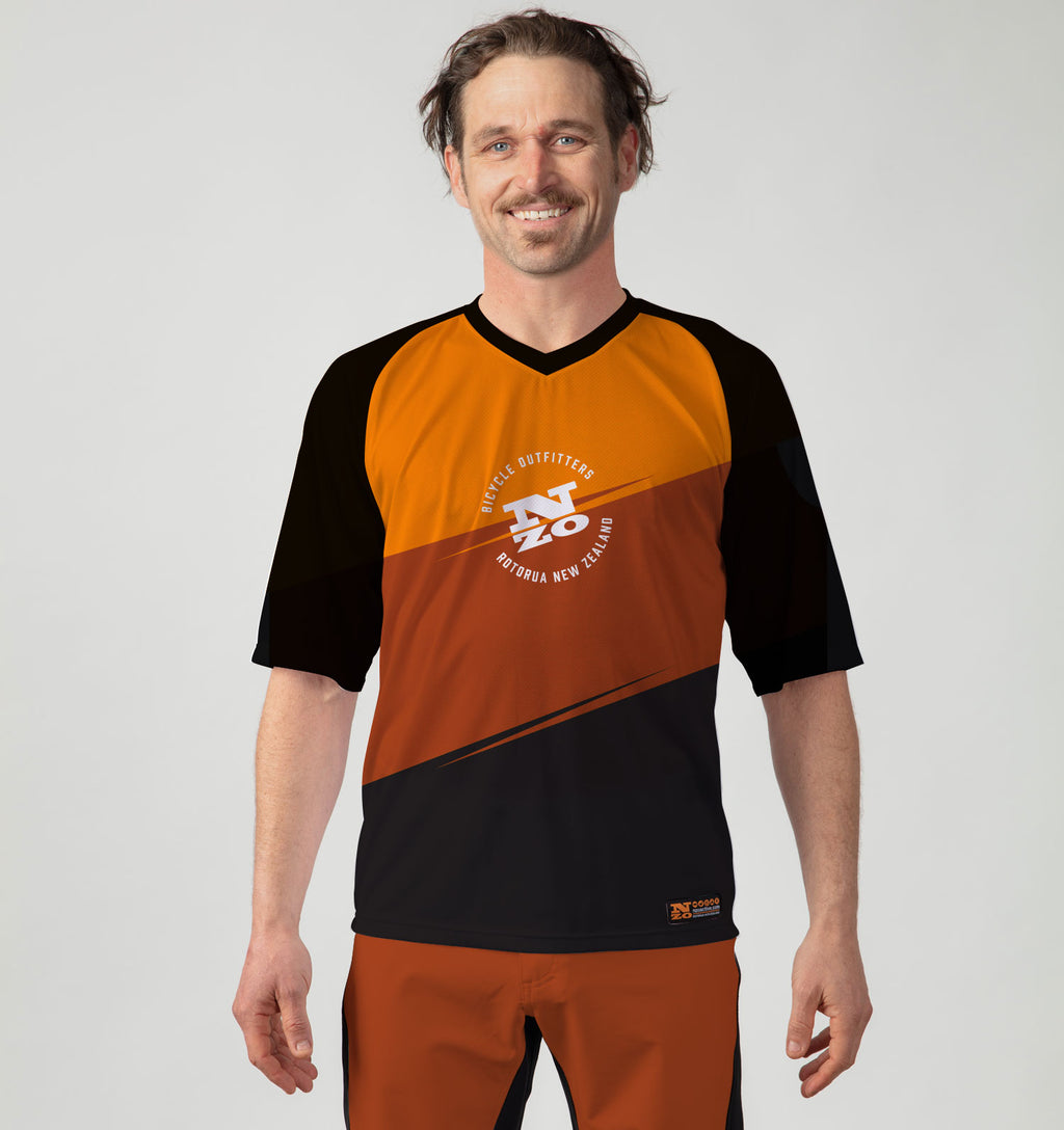 Mens Bike Trail T Jersey - Nzo DESIGN 036_3 Rust Orange