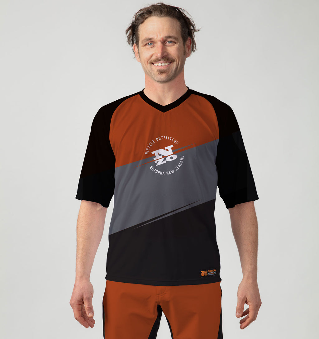 Mens Bike Trail T Jersey - Nzo DESIGN 036_1 Grey Rust