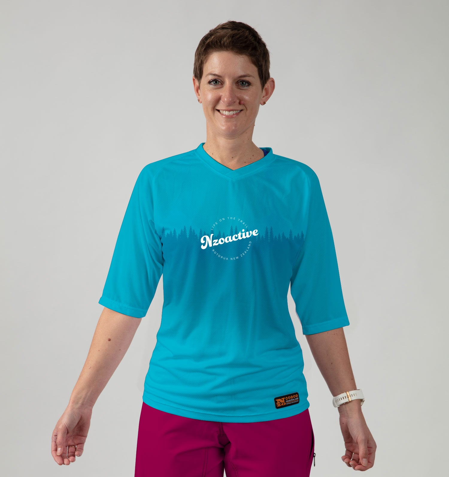 Womens Bike Trail T Jersey - ON DEMAND Nzo DESIGN 039_1 Aqua