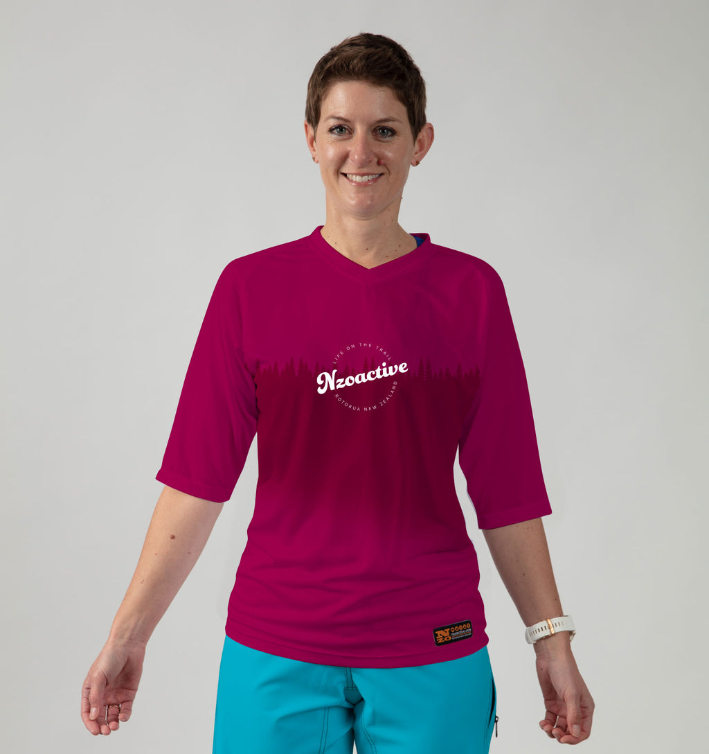 Womens Bike Trail T Jersey - ON DEMAND Nzo DESIGN 039_2 Plum