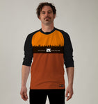 3/4 Sleeve MTB Top  - Nzo DESIGN 033_3 ORANGE