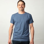 Mens Organic cotton T Shirt - Blue marle