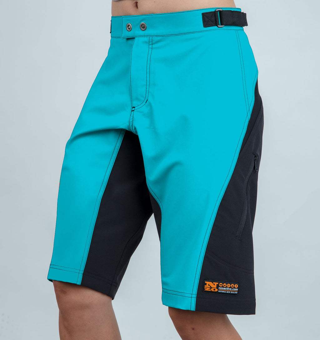 Riddler - Women trail shorts - Nzo DESIGN - 037_2 Aqua