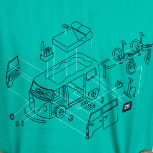 Mens Bike Trail T Jersey - ON DEMAND Nzo DESIGN - Roadtrip