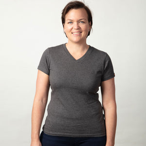 Womens Organic cotton T Shirt - Charcoal marle