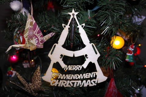 Merry 2nd Amendment Christmas Ornament