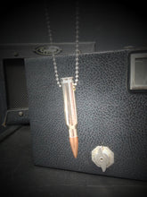 Load image into Gallery viewer, 308 Bullet Necklace in Nickel Plate