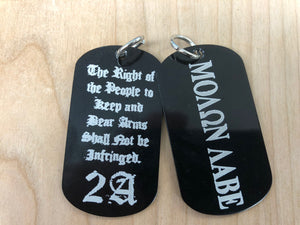 Laser Engraved Dog Tag