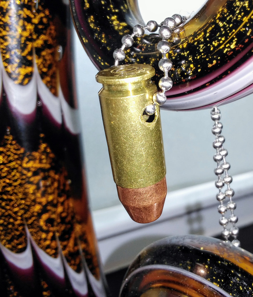.40 Caliber S&W Bullet Necklace - Brass