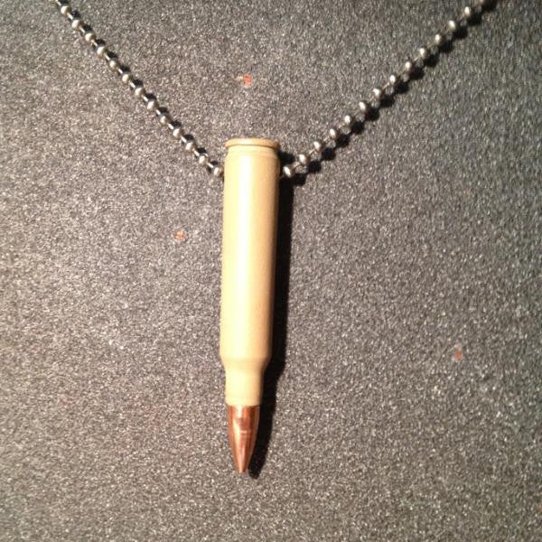 .223 Bullet Necklace in Desert Tan
